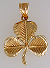 14kt shamrock with diamond cuts