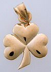 small 14kt gold shamrock