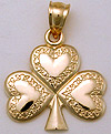 celtic shamrock in 14kt gold