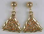 Celtic framed trinity knot earrings