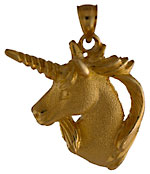 14kt legendary  unicorn  jewelry pendant