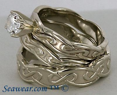 Three Ring Set Celtic Eternity Knots