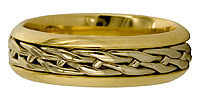 14kt two tone Celtic knot wedding band