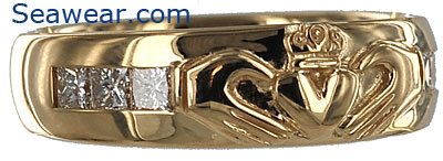 men claddagh wedding band