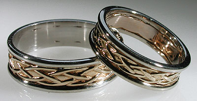 you will see small spaces where - Viking Wedding Rings