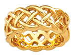 open weave Celtic knot band 8mm