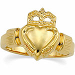 ladies gold claddagh wedding ring
