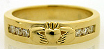 mens gold diamond wedding ring