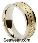 gold ogham wedding ring