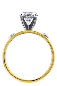 two tone Ireland history engagement solitaire