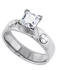 princess cut solitaire Celtic history engagement ring