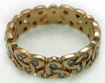 trinity knot diamond eternity band