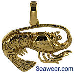 Florida lobster necklace pendant