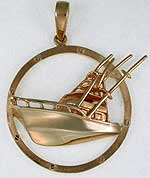 sport fishing boat jewelry  pendant
