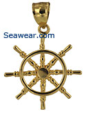 small gold ship's wheel