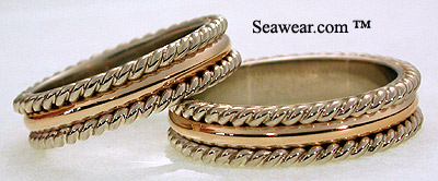 Nautical Twisted Line Ring