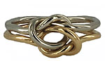 true lovers knot ring 14k gold