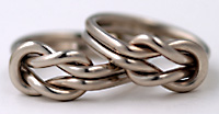 white gold square knot ring by Seawear