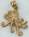 small adorable octopus pendant