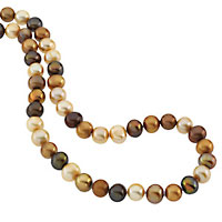 chocolate pearl jewelry necklace