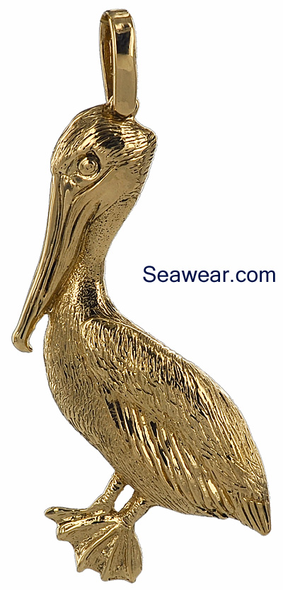 Jewels Obsession Pelican Pendant 19 mm Sterling Silver 925 Pelican Pendant