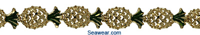 enamel gold pineapple bracelet