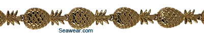 14kt gold pineapple jewelry bracelet
