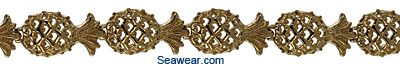 filligree gold pineapple bracelet