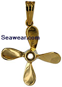 four blade propeller in gold
