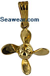 small 4 blade propeller charm