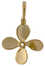 14kt four blade trawler displacement propeller pendant