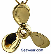 gold propeller jewelry necklace