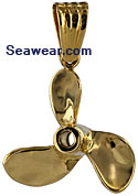 three bladed propeller charm