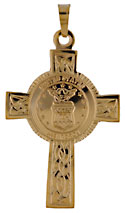14k gold United States Air Force Celtic Cross with USAF Coat of Arms Seal