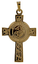 14kt US Marine Corps Semper Fi Celtic Cross