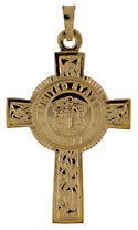 14kt United States Navy Celtic Cross