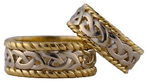 celtic sailor wedding rings - Viking Wedding Rings