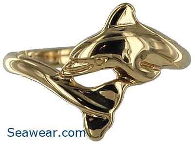 14k dolphin wedding ring - Dolphin Wedding Rings