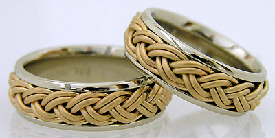 double braid wedding ring hand woven
