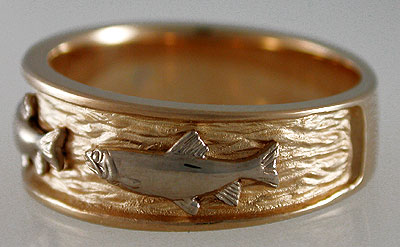 fish wedding ring