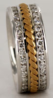 1.5ct total diamonds hand woven eternity wedding band