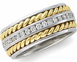 hand braided diamond eternity ring
