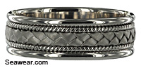 white gold woven ribbon braid band