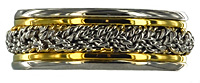 platinum and 18kt hand braided wedding band