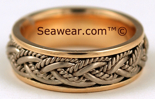 life mates wedding band in two tone 14kt gold