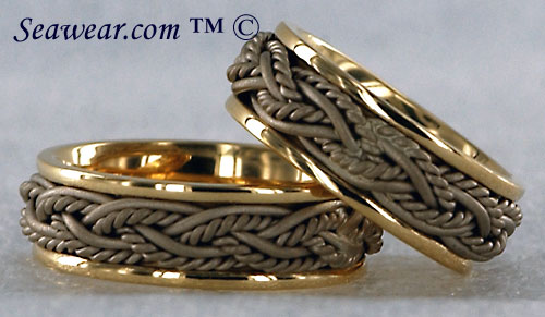 yellow and white gold lifemates rings