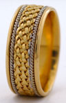 9mm hand woven wedding ring