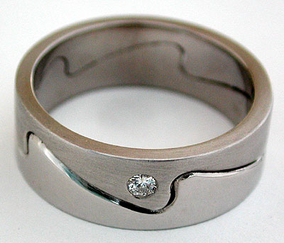 2mm Thick Whitecap Wedding Band