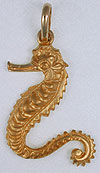 14kt sea horse jewelry charm