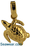 baby sea turtle hatchlink necklace pendant
